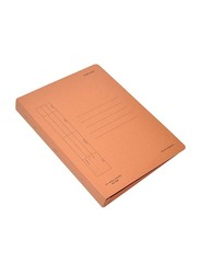 FIS Flat File with Plastic Fastener, F/S Size, 480GSM, 50 Pieces, FSFF3OR, Orange