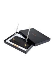 Scrikss Fountain and Ball Desk Pen Set, OSBP56117, Gold/Black