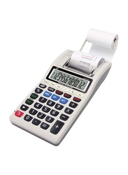 FIS 12-Digit 1-Color Printing Calculator, FSCACP-672, White/Grey