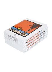 FIS Spiral Soft Cover Single Line Notebook Set, 9 X 7 inch, 10 Piece x 100 Sheets, FSNB971901S, Multicolour