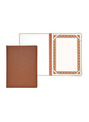 FIS Italian PU Certificate Folders with A4 Certificate and Gift Box, FSCLCERTPUOBR, Brown