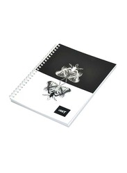 Light 10-Piece Spiral Soft Cover Notebook, Single Line, 9 x 7 inch, 100 Sheets, LINB971803S, Multicolour