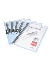 Durable 25-Piece Duraclip Plastic File, A4 Size, DUPG2200-06, Blue