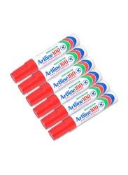 Artline 12-Piece Jumbo Permanent Marker, 7.5-12.0mm, Chisel Style Nib, Red