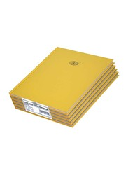 FIS Neon Hard Cover Single Line Notebook Set, 10 x 8 inch, 5 Piece x 100 Sheets, FSNB108N200, Gold