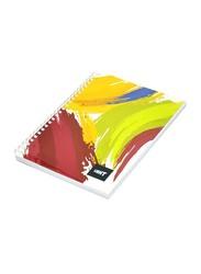 Light 10-Piece Spiral Soft Cover Notebook, Single Line, 100 Sheets, A5 Size, LINBA51804S, Multicolour
