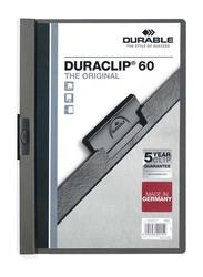 Durable 25-Piece Duraclip File Set, A4 Size, DUPG2209-57, Dark Grey