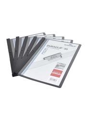 Durable 25-Piece Duraclip Plastic File, A4 Size, DUPG2200-01, Black