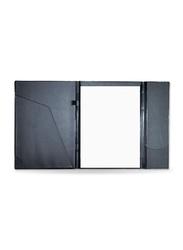 FIS Velvet Executive Portfolio with Writing Pad, 5mm Square, A4 Size, FSGT03EX5M, Beige/Blue