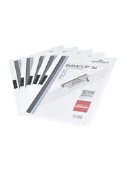 Durable 25-Piece Duraclip Plastic File, A4 Size, DUPG2200-02, White