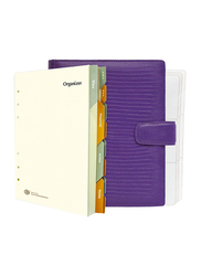FIS Italian PU Romantic A5 Size Organizer, FSORA5123VI, Violet Purple