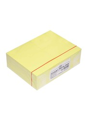 FIS 12-Piece Sticky Note Pad Set, 15.24 x 10.16cm, 100 Sheets, FSPO64BYL, Brilliant Yellow