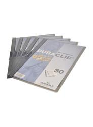 Durable Duraclip Plastic Files, 25 Pieces, DUPG2202, Smoky Grey