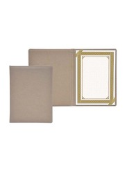 FIS Italian PU Certificate Folders with A4 Certificate and Gift Box, FSCLCERTPUVLBR, Light Brown