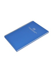 FIS Manuscript Book, F/S Size, 2 Quire, Single Ruled Spiral Binding with English Index, 5 Pieces, FSMNFS2QSBEI, Blue