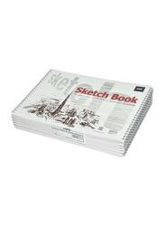 Light 12-Piece Spiral Binding Sketch Book Set, 20 Sheets, A4 Size, 100GSM, LISKSA4201603, White