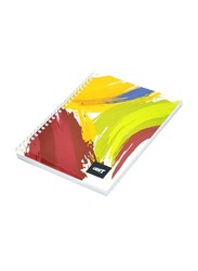 Light 10-Piece Spiral Soft Cover Notebook, Single Line, 9 x 7 inch, 100 Sheets, LINB971804S, Multicolour