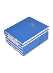 FIS 5-Piece Manuscript Book Set, 5mm Square Line, 22.86 x 17.78cm, 4 Quire, FSMN9X74Q5MM, White