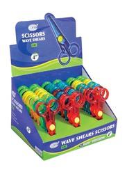FIS 24-Piece Plastic Wave Shears Scissor Set, 4 inch, FSSE01D, Assorted Colour