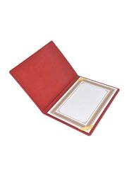 FIS Italian PU 1 Side Padded Cover Certificate Folder, A4 Size, FSCLCHPUMRD5, Maroon