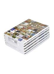 FIS Spiral Soft Cover Single Line Notebook Set, 9 X 7 inch, 10 Piece x 100 Sheets, FSNB971903S, Multicolour