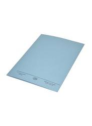 FIS 50-Piece Square Cut Folder Set without Fastener, 320GSM, A4 Size, FSFF9A4BL, Blue
