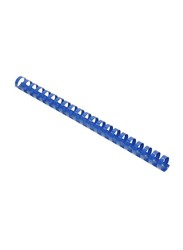 FIS 19mm Plastic Binding Rings, 160 Sheets Capacity, 100 Pieces, FSBD19BL, Blue
