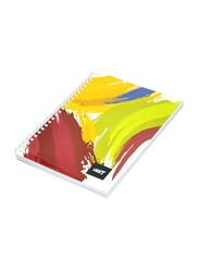 Light 10-Piece Spiral Soft Cover Notebook, Single Line, 10 x 8 inch, 100 Sheets, LINB1081804S, Multicolour