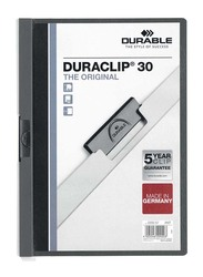 Durable 25-Piece Duraclip Plastic File, A4 Size, DUPG2200-57, Dark Grey