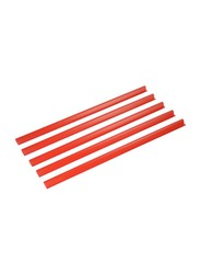 Durable 100-Piece Spine Binding Bar Set, DUPG2901-03, Red