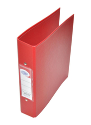 FIS PP 2 Ring Binder, A5 Size, 25mm, Red