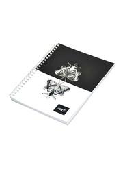 Light 10-Piece Spiral Soft Cover Notebook, Single Line, 100 Sheets, A5 Size, LINBA51803S, Multicolour