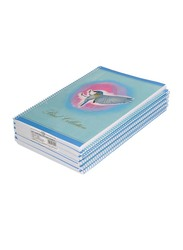 FIS Spiral Soft Cover Notebook Set, 5mm Square, 10 Piece x 80 Sheets, A4 Size, FSNB5A480BC2, Multicolour
