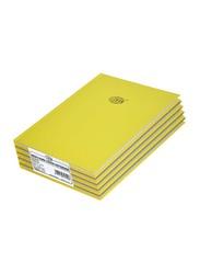 FIS Neon Hard Cover Single Line Notebook Set, 5 x 100 Sheets, 9 x 7 inch, FSNB97N210, Lemon Yellow