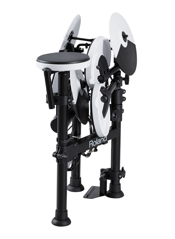 Roland TD-4KP1+TD-4KP2 V-Drum Truly Portable, with An Innovative Fold Up Stand, Black