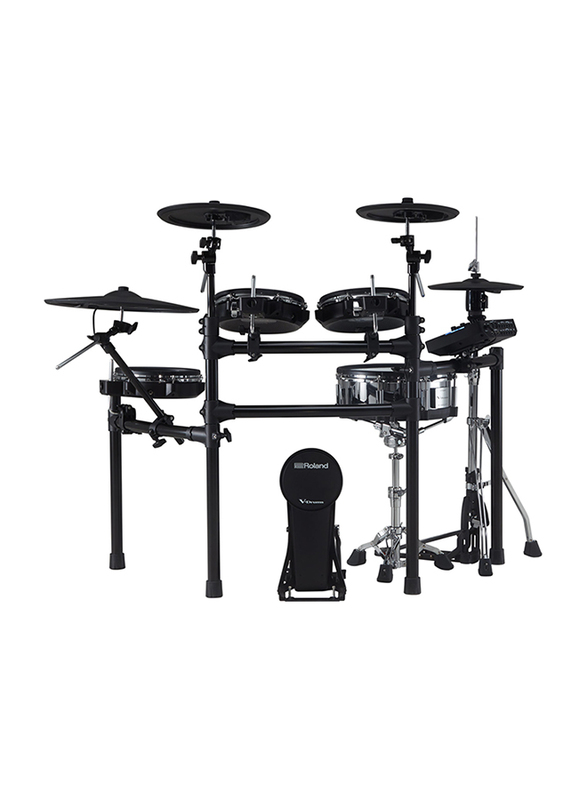 Roland TD-27KV+ MDS-STD2 Electronic Drum Kit, Develop Stick Control and Correct Playing Technique, Black