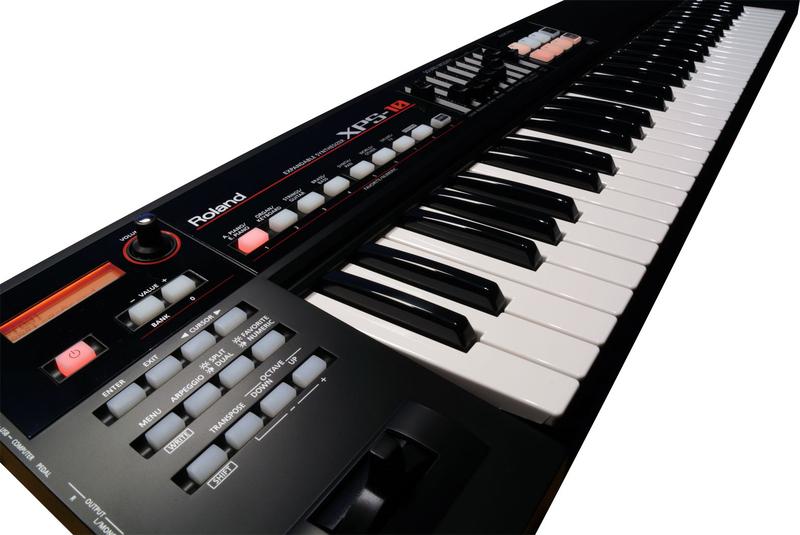 Roland XPS-10 Expandable Keyboard Synthesizer, 61 Keys, Black