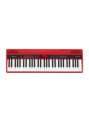 Roland GO-61K Home Music Creation Portable Keyboard, 61 Keys, Red
