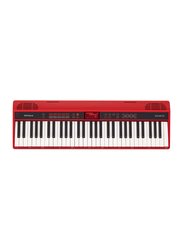 Roland GO-61K Home Music Creation Portable Keyboard, 61 Keys, Red