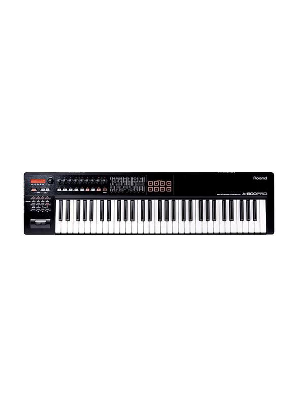 Roland A-800PRO-R MIDI Keyboard Controller, 61 Keys, Black