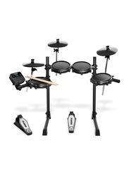 Alesis Turbo Mesh Kit with 7-Piece Electronic Drum Kit with Mesh Heads, Black