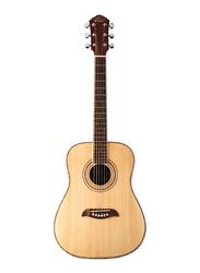 Oscar Schmidt OG1 3/4 Size Acoustic Guitar, Rosewood Fingerboard, Beige/Brown