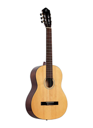 Ortega RST5 Student Series 4/4 Size Nylon String Classic Guitar, ABS Fingerboard, Natural