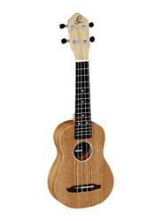 Ortega RFU10S Timber Series Soprano Size Ukulele, Walnut Fingerboard, Natural