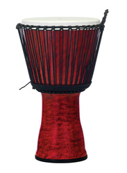 "Pearl PBJVR14699 14"" Rope Tuned Synthetic Shell Djembe, Molten Scarlet"