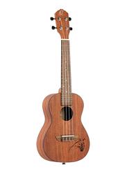 Ortega RU5 Bonfire Series Concert Size Ukulele, Walnut Fingerboard, Satin Natural