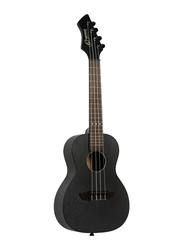 Ortega RUHZ-SBK Horizon Series Concert Size 4-String Ukulele, Tecwood Fingerboard, Black