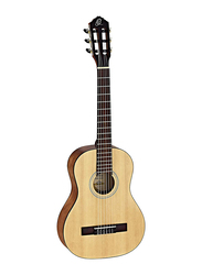 Ortega RST5-1/2 Student Series 1/2 Size Nylon String Classic Guitar, ABS Fingerboard, Natural