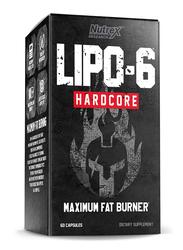 Nutrex Lipo-6 Hardcore Dietary Supplement, 60 Capsules, Regular