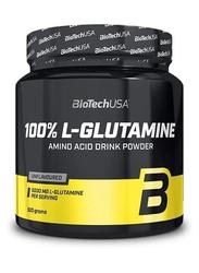 Biotech USA 100% L-Glutamine Amino Acid Drink Powder, 500g, Regular